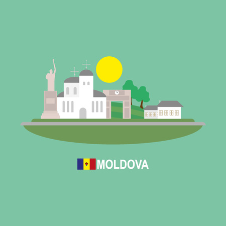 moldova: Moldova famous buildingds infographic