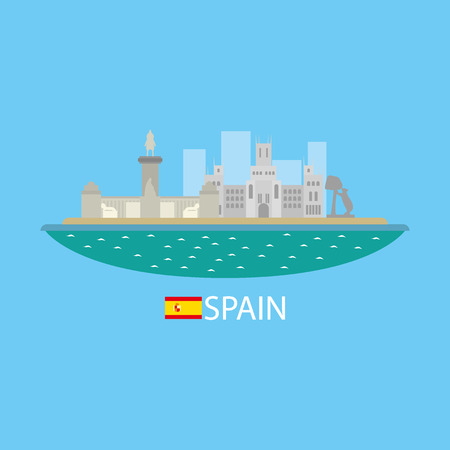 valencia orange: Spain famous buildingds infographic