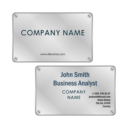 visit card: Metall business card design