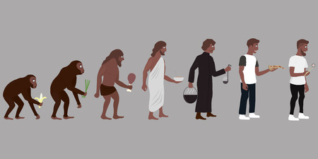 evolve: Food Evolution vector illustration