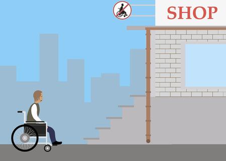 La discriminación contra las personas discapacitadas en silla de ruedas