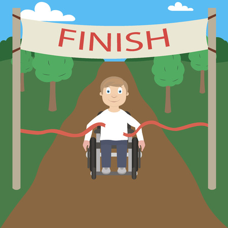 physically: Wheelchair racer crosses the finish line