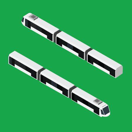 sub station: Isometric isolated modern train illustration.
