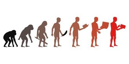 Human and technic evolution Ilustracja