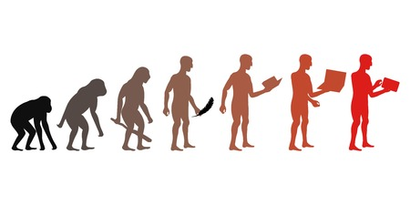 Human and technic evolution Illustration