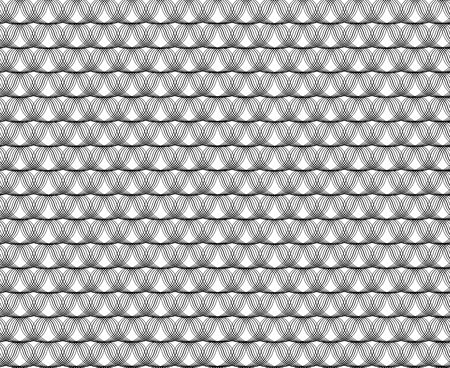 white wave: Seamless wave black pattern on white background