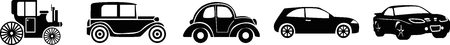 Evolution of car silhouettes