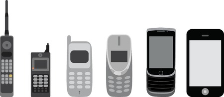 Cell phone evolution. 6 stages of mobile evolution.
