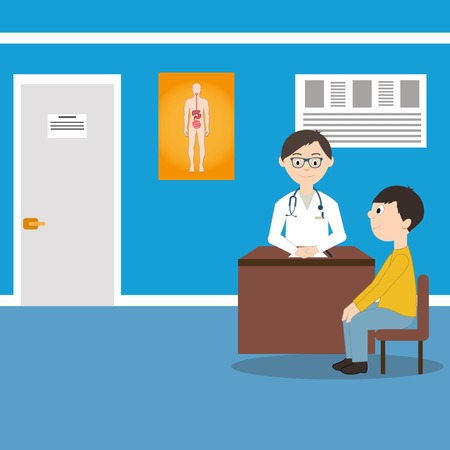 general practitioner: Male doctor health consultation in hospital