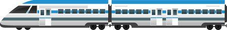 high speed: Modern high speed train isolated vector