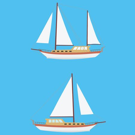 sailer: Sailing boat with one and two masts