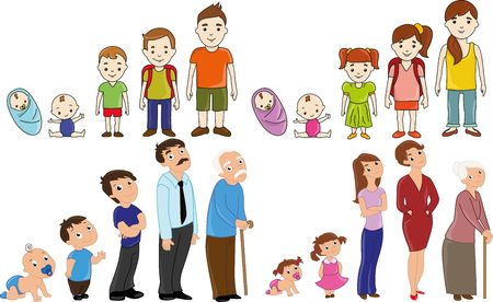 Big family set: from baby to senior