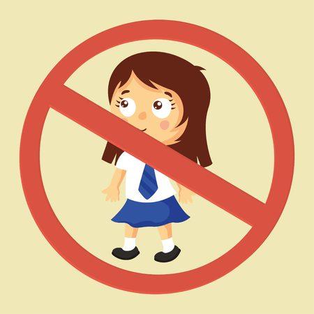 allowed: No children allowed. No kids sign.