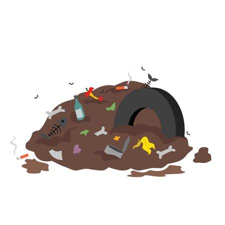 can food: Trash heap: rubbish, can, food waste.