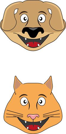 Cat and dog flat faces