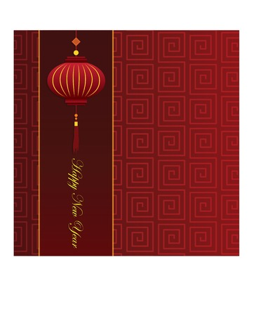 Chinese New Year Card with red background