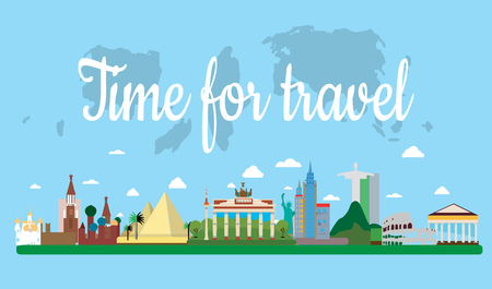 Time for travel. Our travel destinations banner.