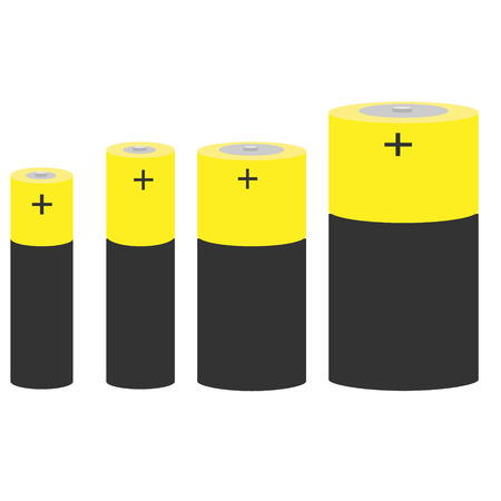 9v battery: Set of batteries of different sizes.