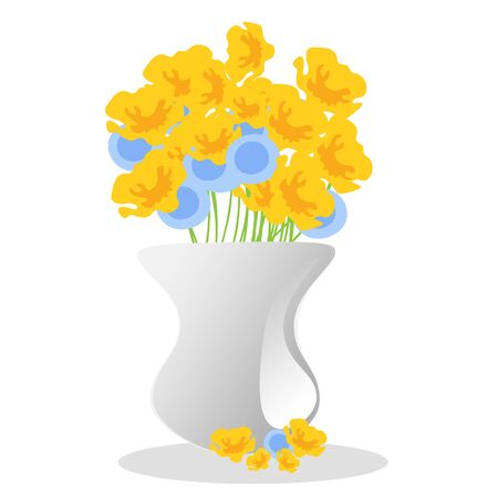 Flowers and vase composition