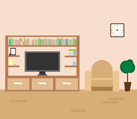 Vector interior of a living room 向量圖像