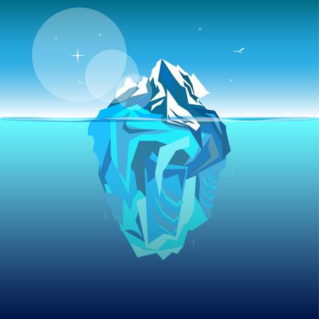 tip of iceberg: Iceberg in ocean water