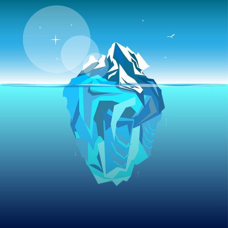 Iceberg in ocean water