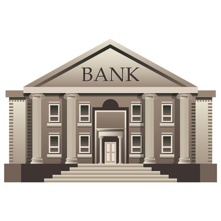 roman column: Bank finance building illustration isolated Illustration
