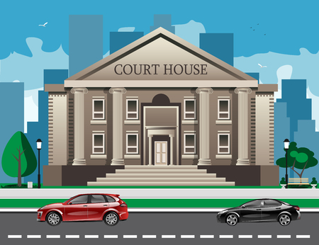 frontview: Front view of court house.