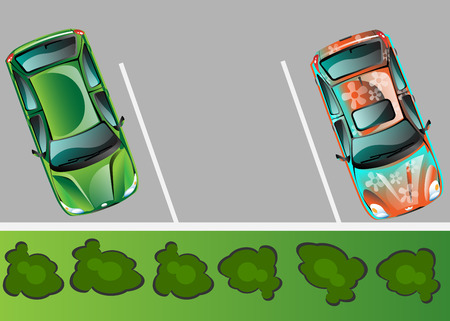 City parking vector banner. Illustration