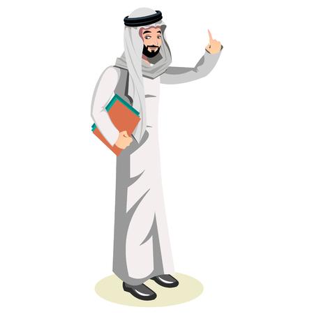 Arab man character