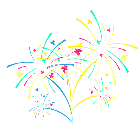 Fireworks and celebration vector