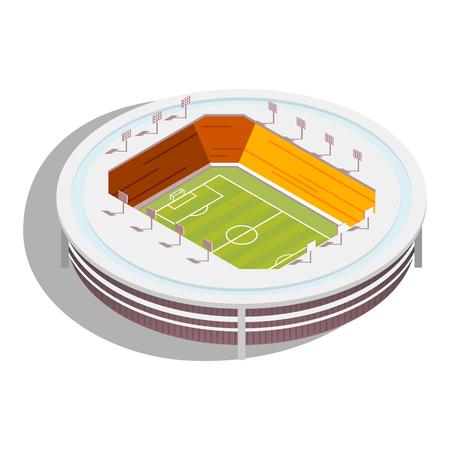 soccer goal: Football Stadium isometric Illustration