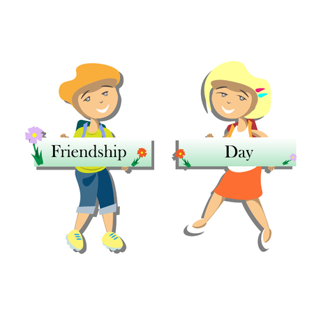 Happy friends enjoying Friendship Day.