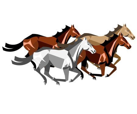 Horses in different colors