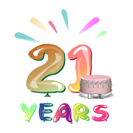 Greeting card for twenty first anniversary