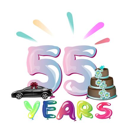 Gelukkige Verjaardag Eenenvijftig 51 Jaar Royalty Vrije Cliparts
