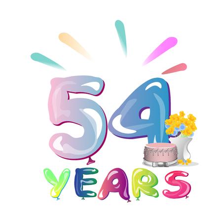 54 th birthday celebration greeting card