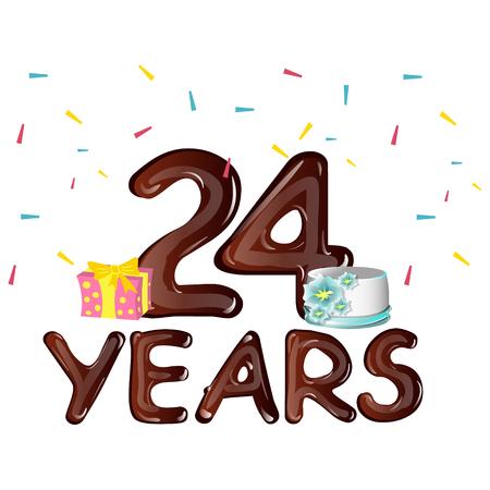 Happy 24th birthday greeting card