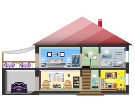 Detailed modern house interior.