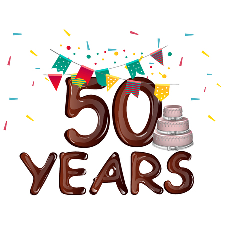 Happy Birthday fifty 50 year Illustration
