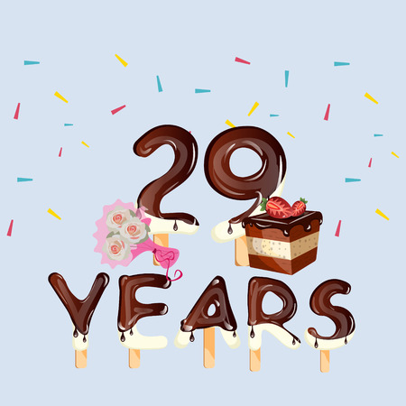 0 29th Birthday Stock Illustrations Cliparts And Royalty Free 29th