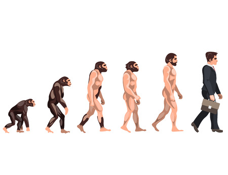 Human evolution from ancient times till nowadays.