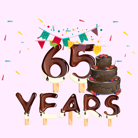 65 years happy birthday card
