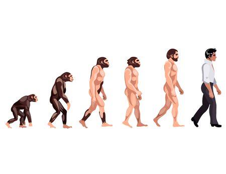 Evolution from monkey to dancer