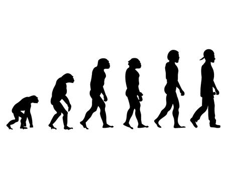 Evolution rapper silhouette on white background