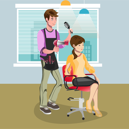 Woman in beauty salon at hairdresser