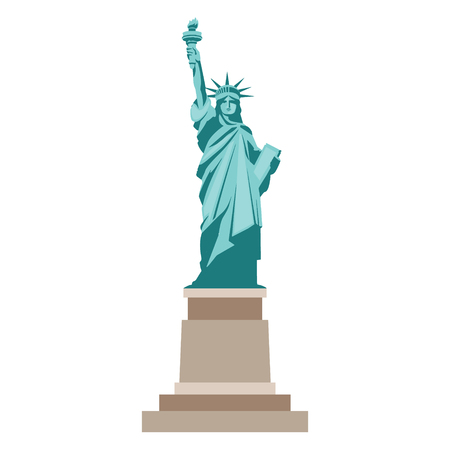 Isolated statue of liberty on white background