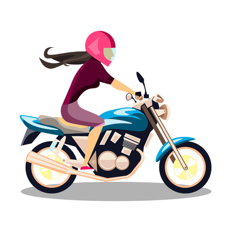 Attractive young woman on bike