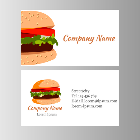 Burger business card Template for shop