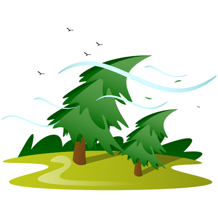 Wind tree isolated